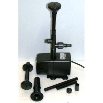 Pondmaster Pumps offer 3 different fountain attachments - Mushroom, 2 Tired & 3 Tired