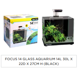 Aqua One Focus 14 Aquarium Black in Adelaide
